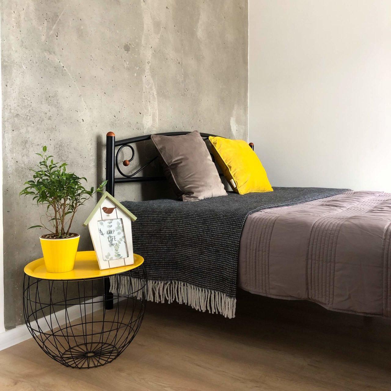 Дизайн проект квартира студия с одной спальней, желтая ЖК ФайнаТаун, Киев | фото 6