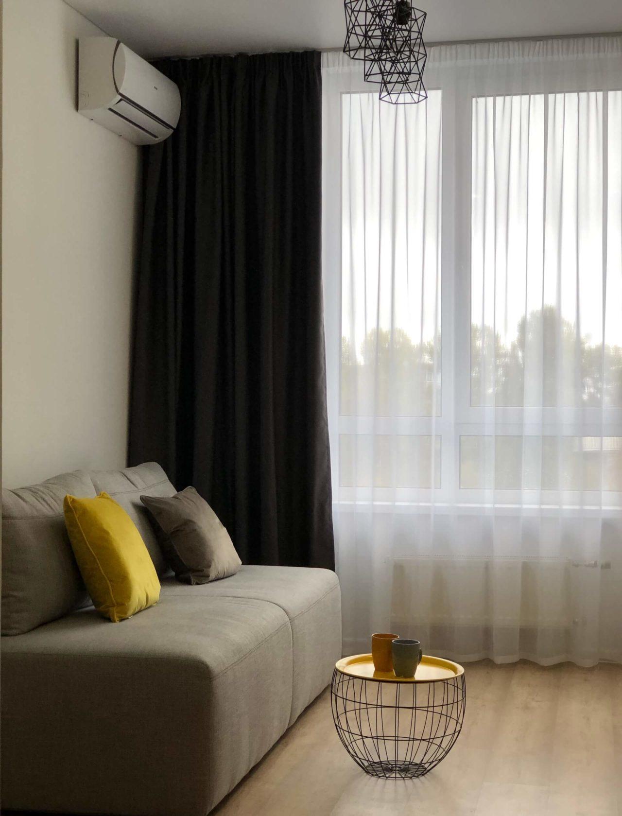 Дизайн проект квартира студия с одной спальней, бежевая ЖК ФайнаТаун, Киев | фото 6