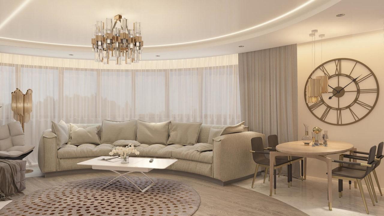 Дизайн проект квартира студия с одной спальней Демеевская, Киев | фото 3