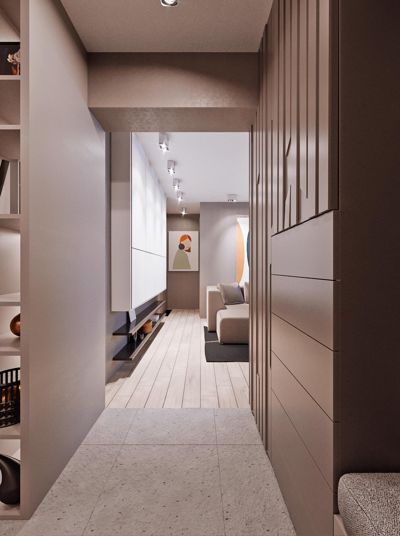 Дизайн проект двухкомнатной квартиры, бирюзовій акцент, Киев | фото 12