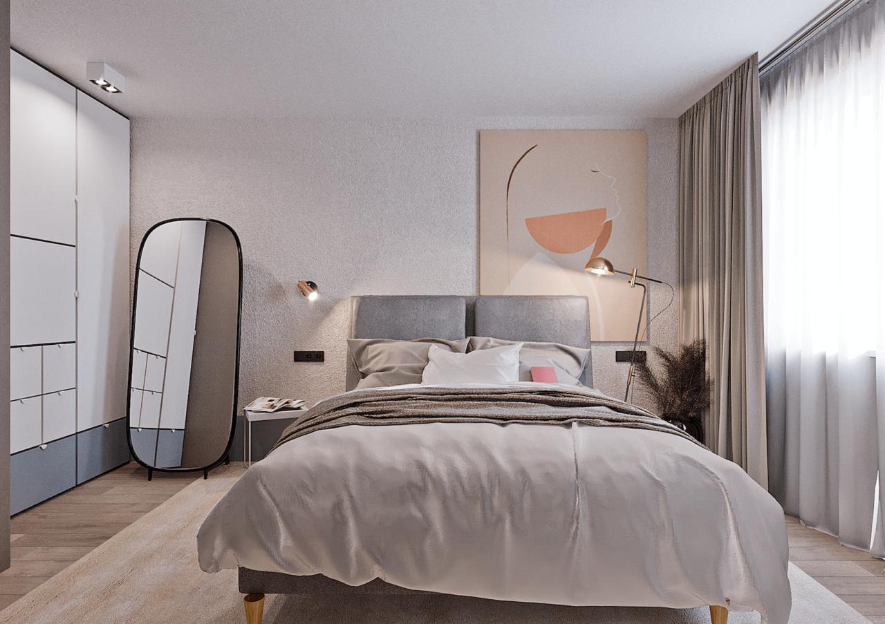 Дизайн проект двухкомнатной квартиры, бирюзовій акцент, Киев | фото 20