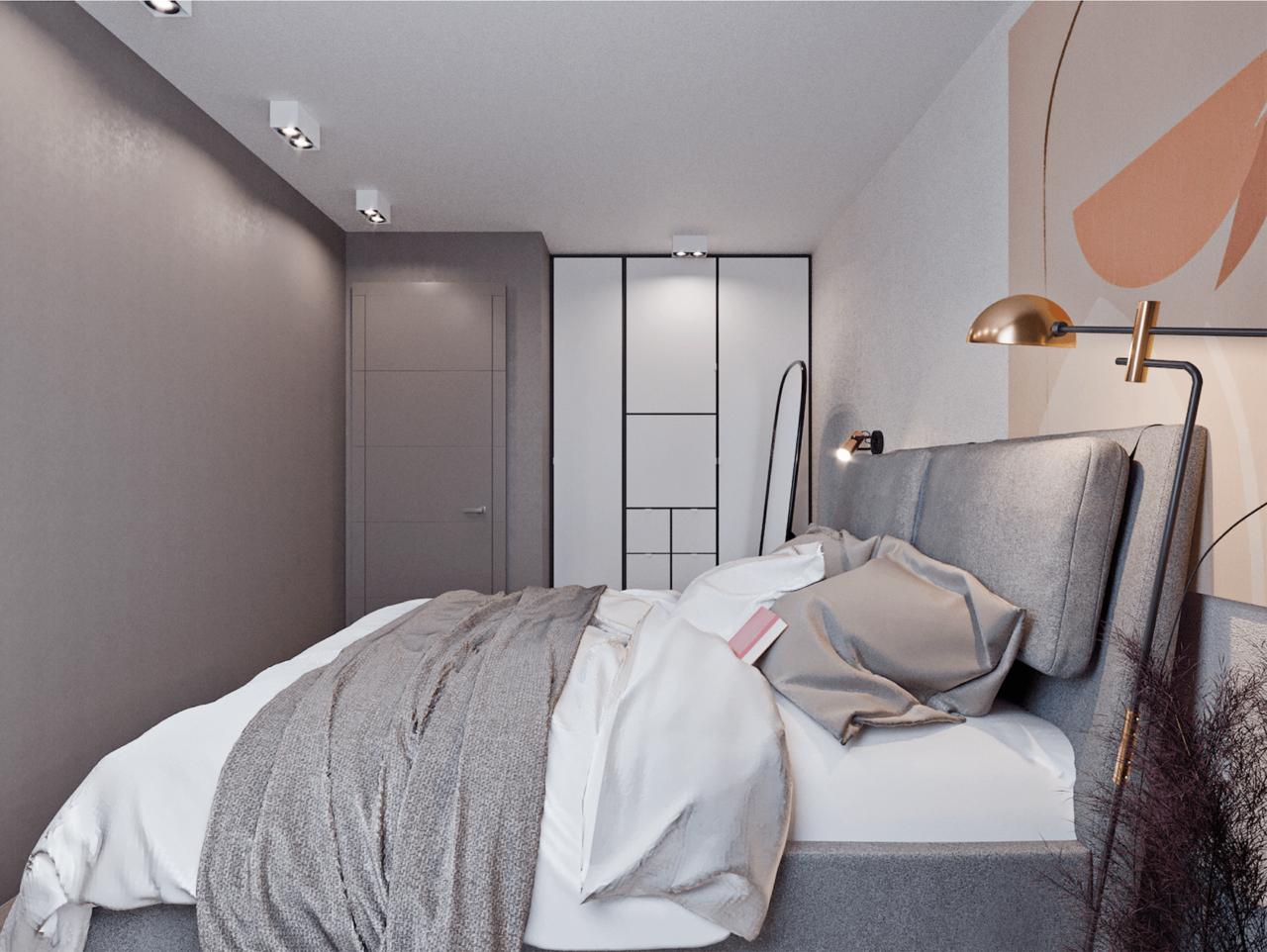 Дизайн проект двухкомнатной квартиры, бирюзовій акцент, Киев | фото 21
