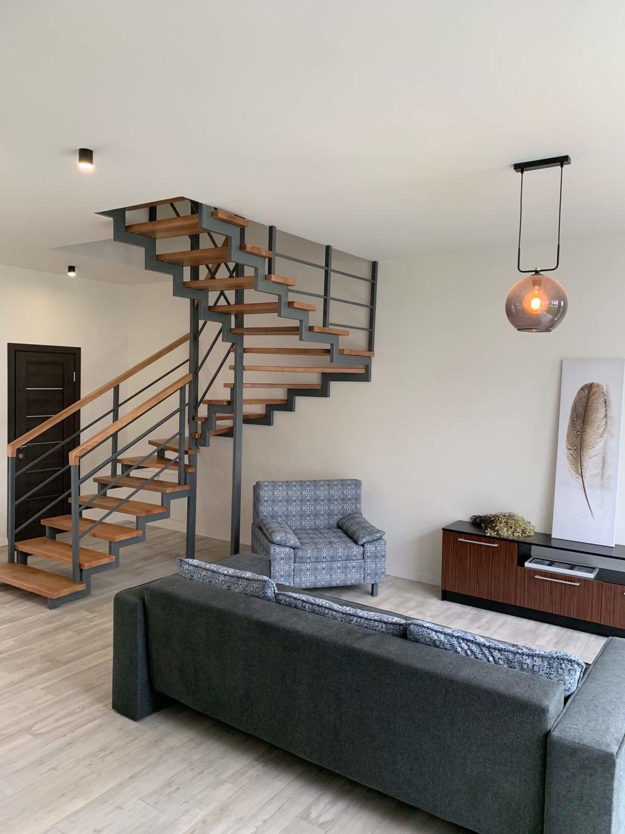 Дизайн проект таунхауса 120 кв.м., коричневый. Львов | фото 2