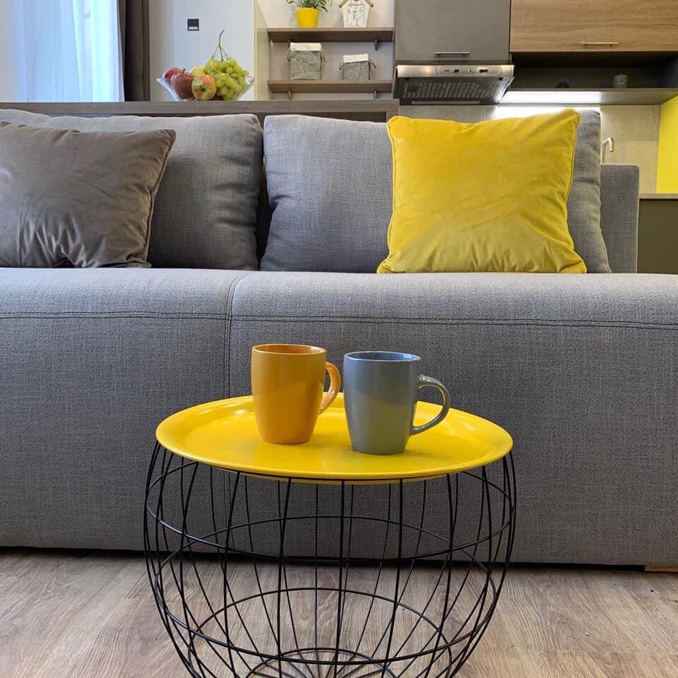 Дизайн проект квартира студия с одной спальней, желтая ЖК ФайнаТаун, Киев | фото 3