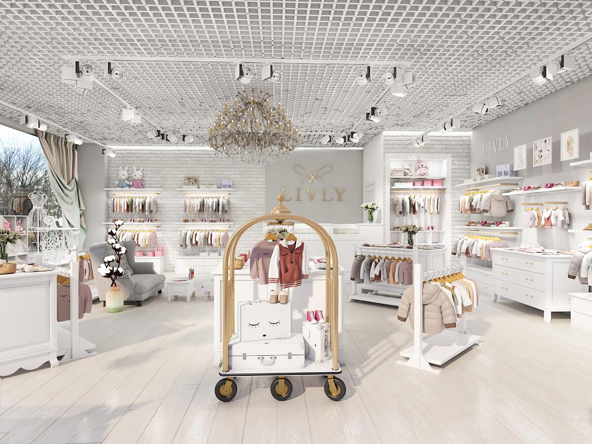 Дизайн проект бутик детской одежды, Киев | фото 1
