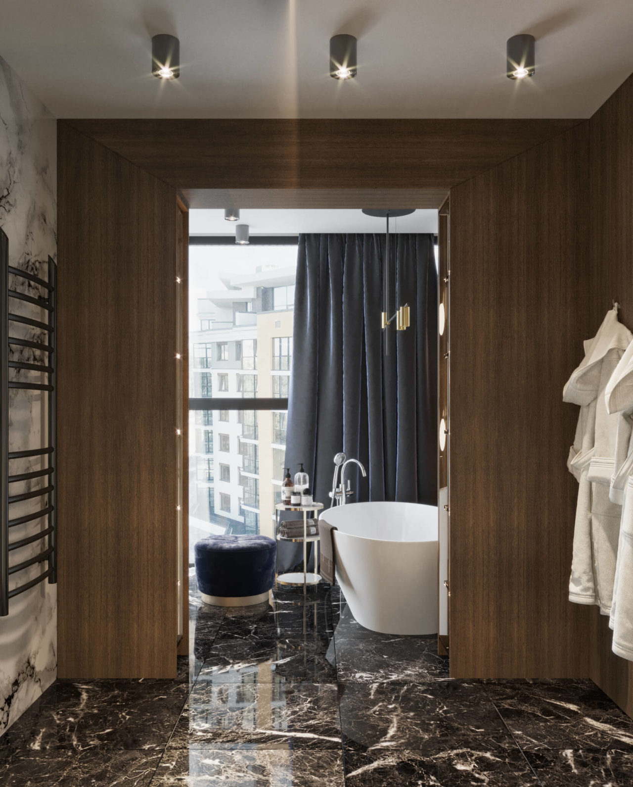 Дизайн проект двухэтажная квартира с террасой, Ирпень | 1 этаж фото 7