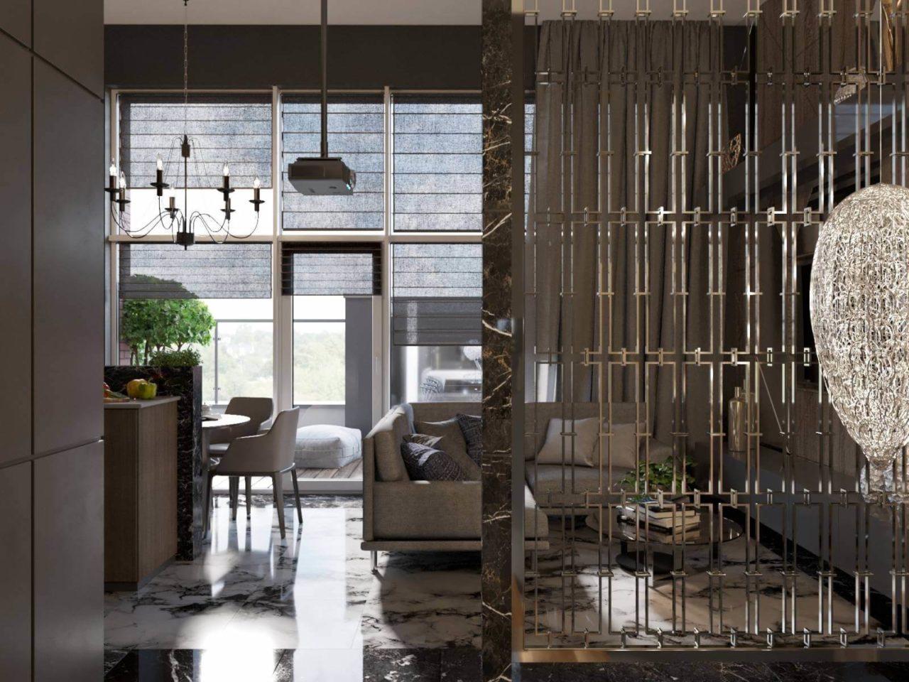 Дизайн проект двухэтажная квартира с террасой, Ирпень | 2 этаж фото 2
