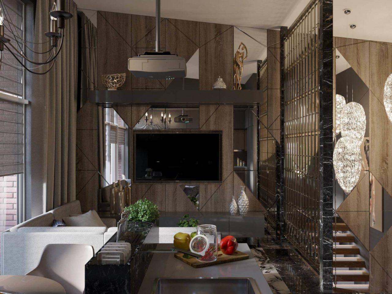 Дизайн проект двухэтажная квартира с террасой, Ирпень | 2 этаж фото 4