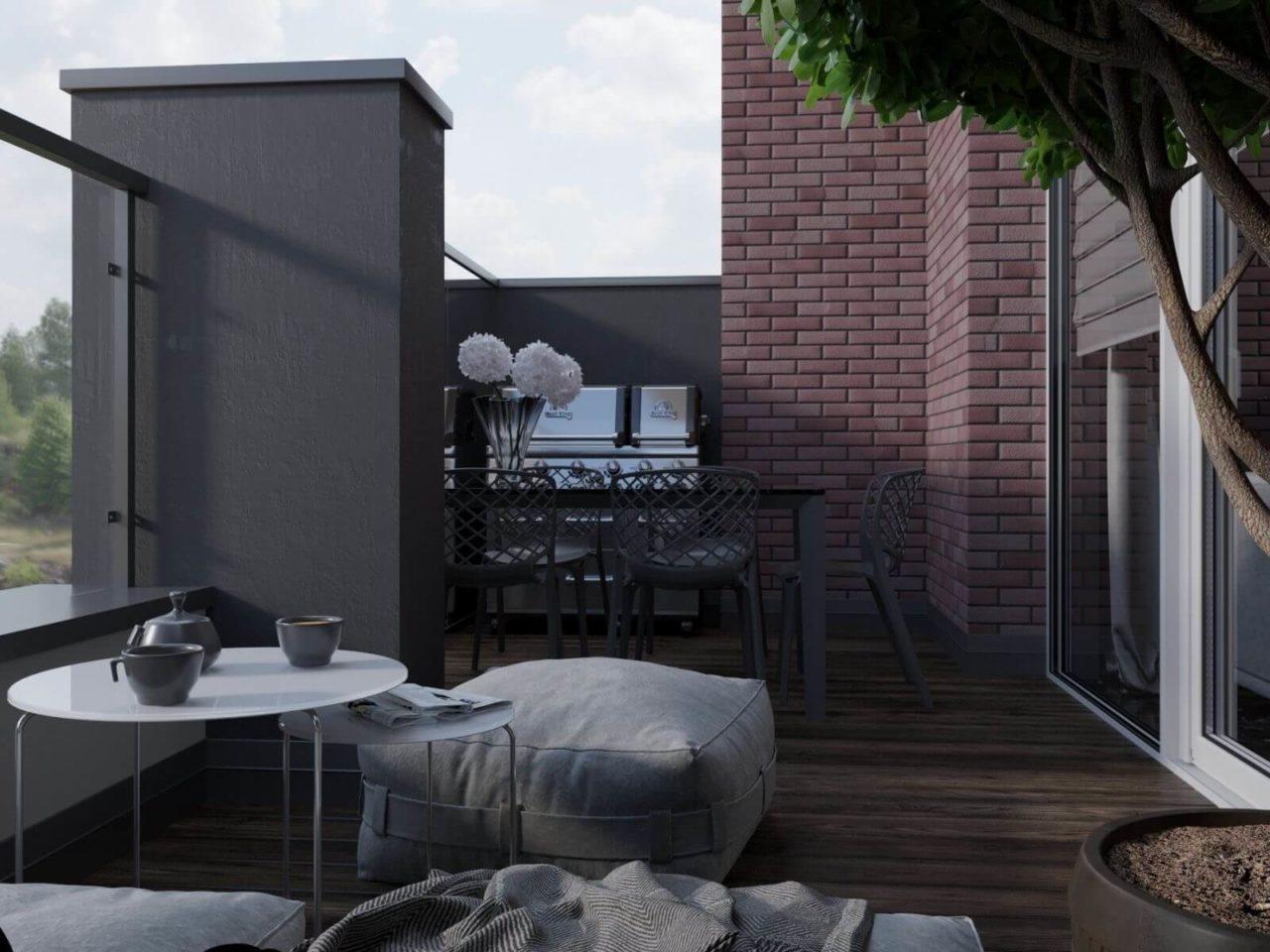 Дизайн проект двухэтажная квартира с террасой, Ирпень | 2 этаж фото 6
