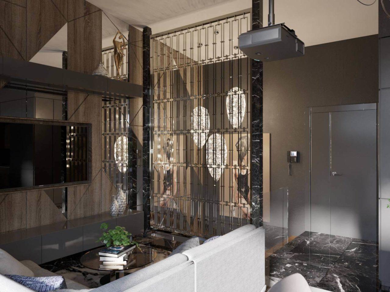 Дизайн проект двухэтажная квартира с террасой, Ирпень | 2 этаж фото 8