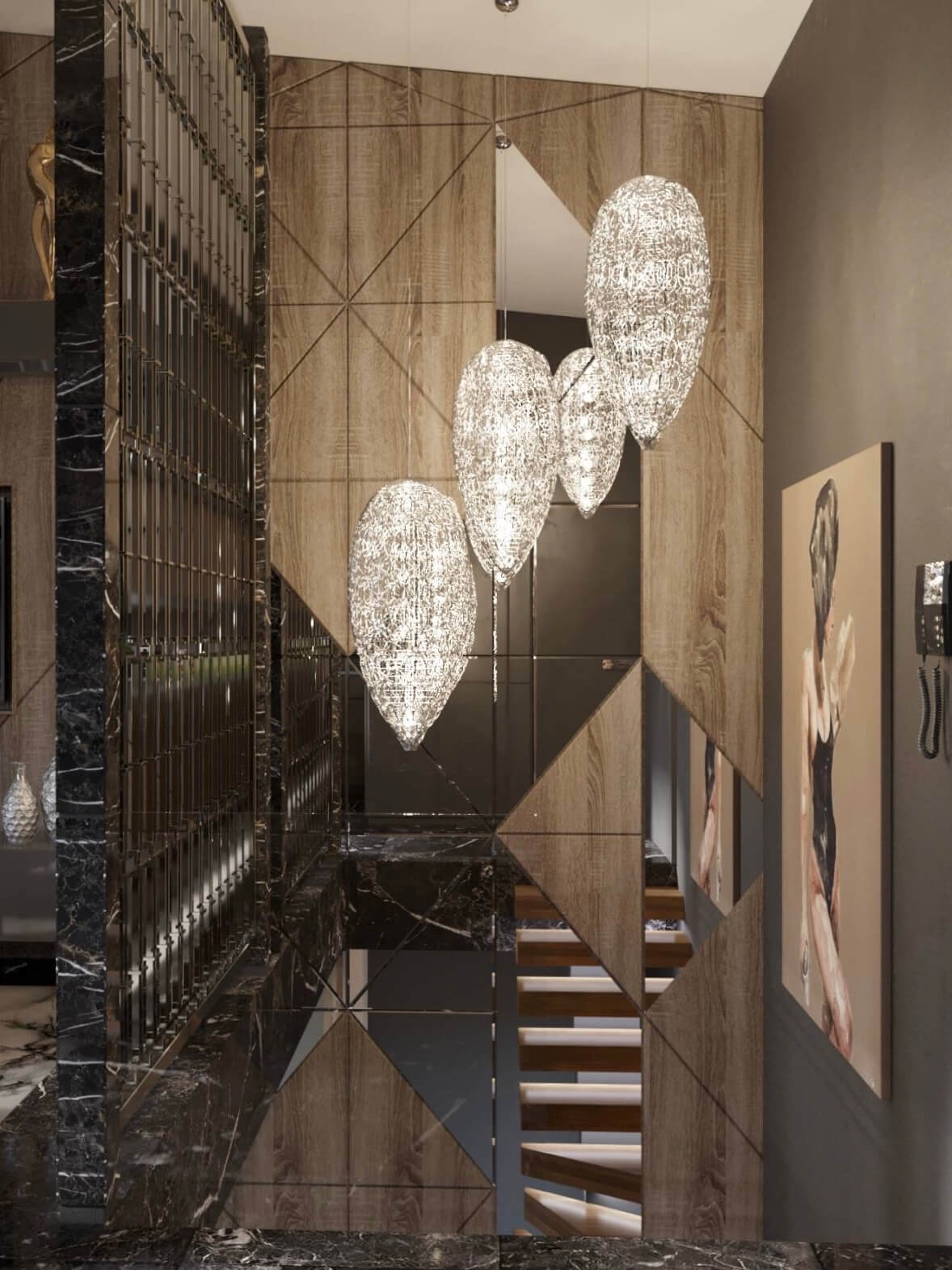 Дизайн проект двухэтажная квартира с террасой, Ирпень | 2 этаж фото 9