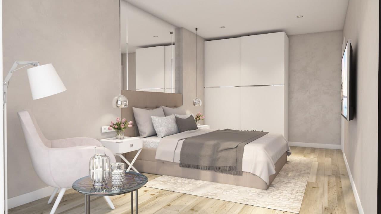 Дизайн проект квартира студия с одной спальней, ЖК Липинка, Киев | фото 2