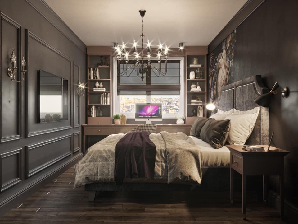 Дизайн проект квартира студия с двумя спальнями, Киев | фото 10