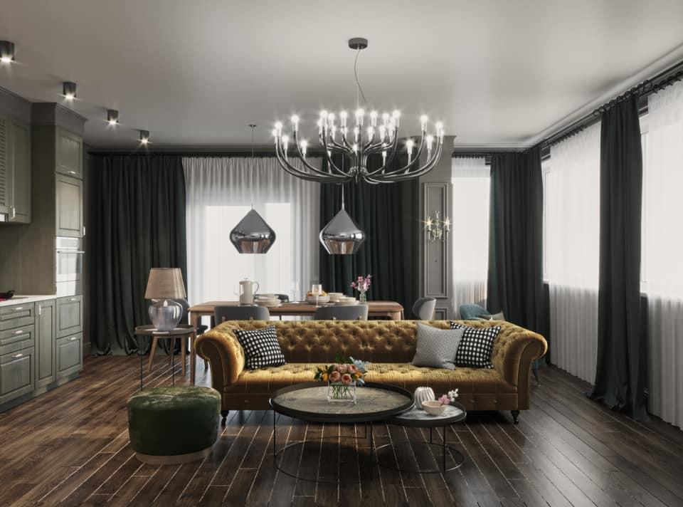 Дизайн проект квартира студия с двумя спальнями, Киев | фото 11